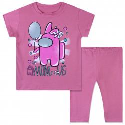 Костюм для девочки, розовый. Amoung Us Girl.