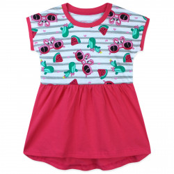 Платье для девочки, бело-розовое. Сочное лето.