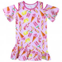 Платье для девочки, розовое. Сладкое мороженное.
