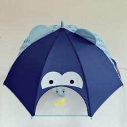 Детский зонтик, синий. Обезьянка.
