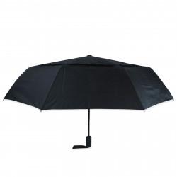 Зонт складной с двойным куполом полный автомат. Черный.
