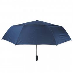 Зонт складной с двойным куполам полный автомат. Темно-синий.