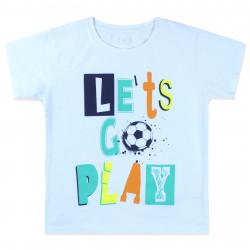 Футболка для мальчика, белая. Let's go play.