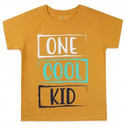 Футболка для мальчика, желтая. One cool kid.