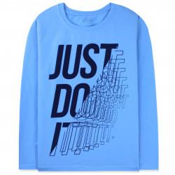 Кофта для мальчика, реглан, голубой. Just do it.