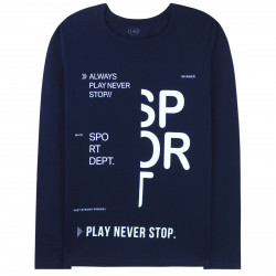 Кофта для мальчика, реглан, темно-синяя. Sport.