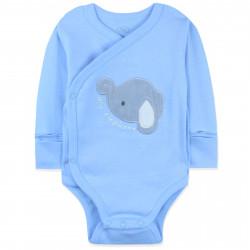Боди для мальчика, голубой. Слоненок.
