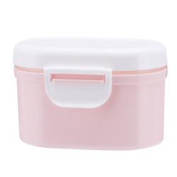 Ланч бокс с крышкой, контейнер, судок. Розовый.