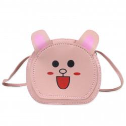 Сумка детская, розовая. Анимешный заяц.