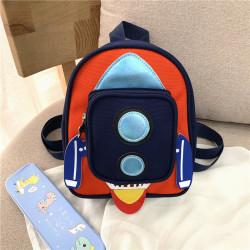 Детский рюкзак с карманом. Черная ракета.