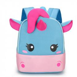 Детский рюкзак, голубой. Красивый единорог.