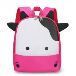 Детский рюкзак, розовый. Красивая коровка.