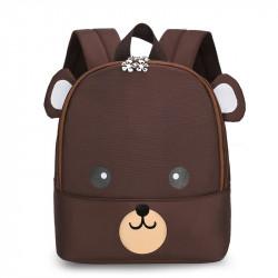 Детский рюкзак, коричневый. Красивый мишка.