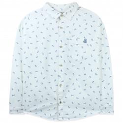 Рубашка для мальчика, байковая, молочная. New York.