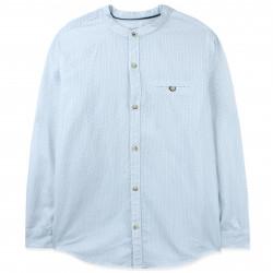 Рубашка для мальчика, с воротником стойка, белая. Крапинка.