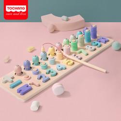 Деревянная развивающая игрушка для малышей. Геометрика.