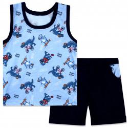 Костюм 2 в 1 для мальчика, темно-синий. Спортивные дино.