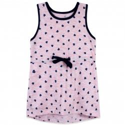 Платье для девочки, розовое. Блестящие сердечки.