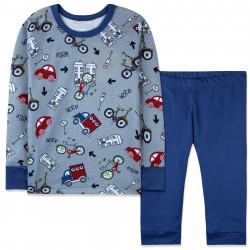Пижама для мальчика, темно-синяя. Городской транспорт.