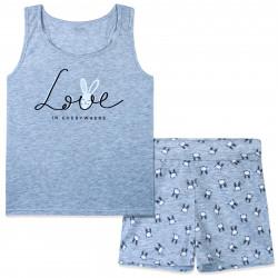 Пижама для девочки, серая. Love.