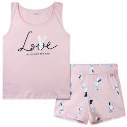 Пижама для девочки, розовая. Love.
