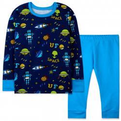 Пижама для мальчика, сине-голубая. НЛО.