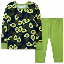 Пижама детская, зеленая. Авокадо.