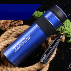 Термос, термос-фляга, синий. Sport Vacuum Cup. 1100 мл.