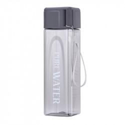 Бутылка пластиковая, серая. Pure water. 480 мл.