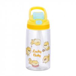 Бутылка детская пластиковая, поильник, желтая. Везучие щенки. 480 мл.