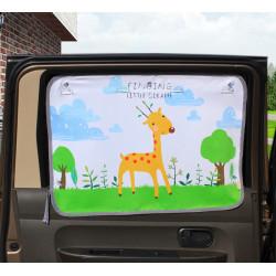 Защитная шторка для автомобиля. Маленький жираф.