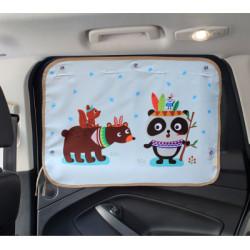 Защитная шторка для автомобиля. Панда - индеец.