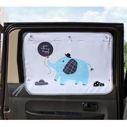Защитная шторка для автомобиля. Слон и воздушный шарик.