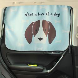 Защитная шторка для автомобиля. Милый щенок.