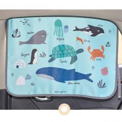 Защитная шторка для автомобиля. Океанические животные.