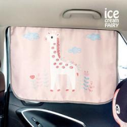Защитная шторка для автомобиля. Милый жираф.