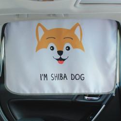 Защитная шторка для автомобиля. Милый песик.