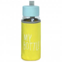 Чехол на бутылку и на термос, желтый. My bottle.
