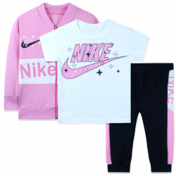 Костюм для девочки тройка, розовый. Sport Air.