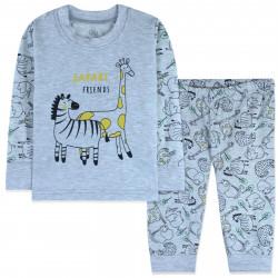 Пижама для малышей, серая. Друзья Сафари.