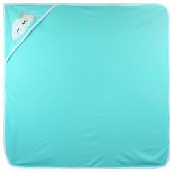 Полотенце с уголком, пеленка с уголком, мятное. Тучка. 90*90 см.