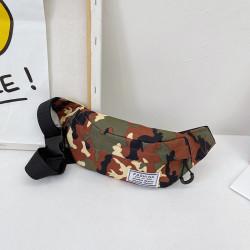 Сумка детская, поясная сумка. Коричневый хаки.