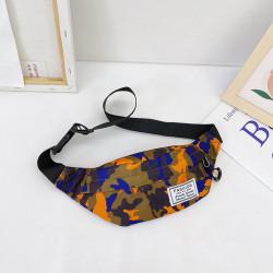 Сумка детская, поясная сумка. Оранжевый хаки.