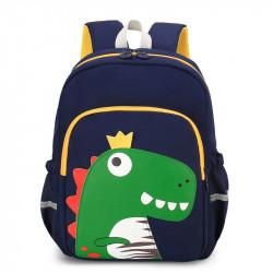 Детский рюкзак, школьный, темно-синий. Король Дино.