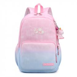 Детский рюкзак, школьный, розово-голубой. Fashion.