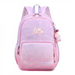 Детский рюкзак, школьный, розово-сиреневый. Fashion.