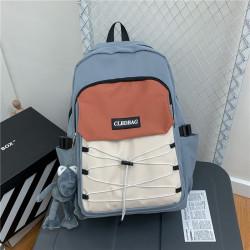 Рюкзак городской, школьный, мужской, серый. Шнуровка и лягушонок Кермит.