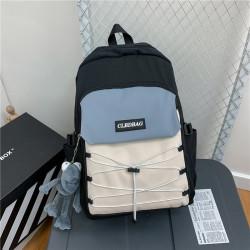 Рюкзак городской, школьный, мужской, черный. Шнуровка и лягушонок Кермит.