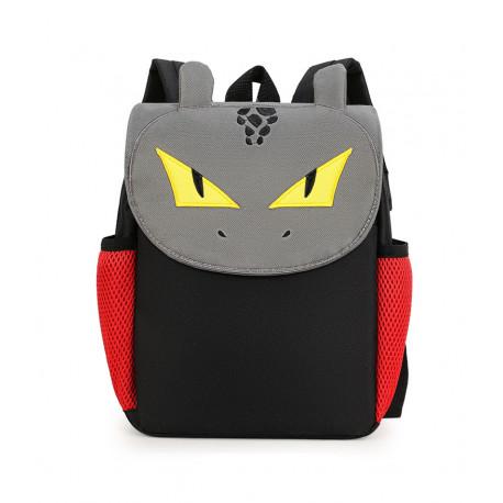 Детский рюкзак, черный. Опасный дракон.