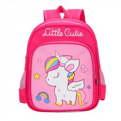 Детский рюкзак, малиновый. Маленький единорожка.